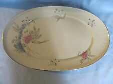 "Thomas Germany Rosenthal  (7507) Porcelain Oval Ribbed Platter 15"" Beautiful EC"