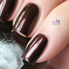 NEW! Nicole By OPI nail polish lacquer ZERO IS MY HERO - Rich Shimmery Burgundy