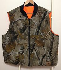 Bob Allen Reversible Hunting Vest Size XL Realtree Hardwoods Camo / Blaze Orange