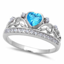 Fine Gemstone Differerent Colors Cz Crown Ring 925 Silver Ring Size 4-11