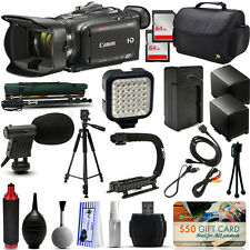 Canon XA30 HD Professional Video Camcorder + 128GB + Tripod + Monopod + Battery