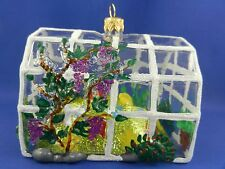 Greenhouse Flower Garden Poland Blown Glass Christmas Tree Ornament 011276