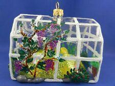 Greenhouse Flower Garden Poland Blown Glass Christmas Tree Ornament 011276