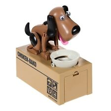 My Puppy Dog Electronic Coin Piggy Bank Eats & Saves Money Box Black & Brown New