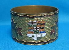 Canada Souvenir Maple Leaf Heraldic Shield Napkin Document Ring Brass Metal
