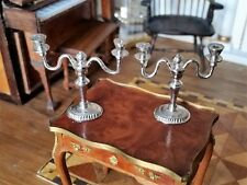 EUGENE KUPJACK DOLLHOUSE MINIATURES STERLING SILVER DOUBLE ARM CANDELABRA