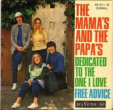 "THE MAMA'S AND THE PAPA'S ""DEDICATED TO THE ONE I LOVE"" EP 1967 RCA VICTOR"