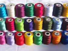 25 Large Embroidery Machine Thread, 1000 meters each, Brother, Janome, Singer