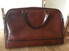 Vintage Antler Weekend Bag Hold-all Hand Luggage Suitcase Vinyl Faux Leather