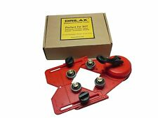 USED Drill Bit Hole Saw Guide Jig Fixture Vacuum Suction Base Cooler Input