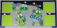 CraftEcafe Premade Scrapbook Page Paper Piecing Space Ship Boy Girl BLJgraves 25