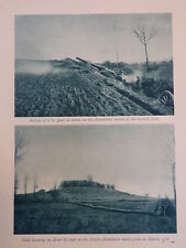 WW1 WAR 6 INCH GUNS MONTDIDIER; RUINS OF COMBLES, LASSIGNY (1 SHEET, BOTH SIDES)