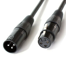 1m XLR Male To Female Lighting DMX Cable Lead - 3 Pin