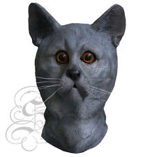 Latex Overhead Full Head Pet Grey Cat High Quality Fancy Dress Up Party Masks