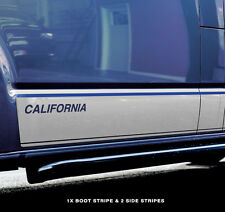 VW SWB T5,T6 California Sticker Decal 2 X Side and 1 X Boot Stripes Camper
