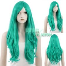 LOLITA Turquoise Green Long Curly Anime Cosplay Hair Wig