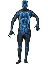New X Ray Second Skin Full Body Suit Halloween Mens Fancy Dress Costume 38-40""