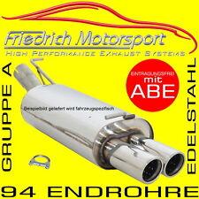 FRIEDRICH MOTORSPORT V2A SPORTAUSPUFF Audi A3 8L mit S3-Heck 1.6 1.8+T 1.9 TDI