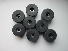"8 X speaker Rubber feet 40mm x 25.4mm / 1.57"" X 1"" quality (BRITISH MADE)"