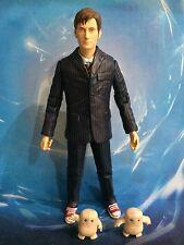 Doctor Who Figura-el 10th Décimo Doctor En Traje Azul Con 2 Adiposo Bebé