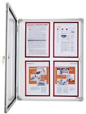 Schaukasten Magnetoplan SP 4 x DIN A4  für Innen - Alu Infokasten, magnetisch