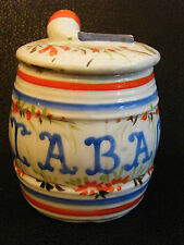 Pot à Tabac en Faience Ancienne
