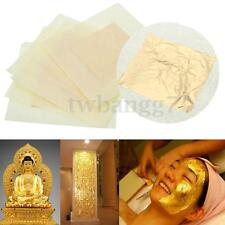 5Pcs 24K Pure Gold Edible Real Gold Leaf Sheet Gilding Craft Mask SPA 3x3cm