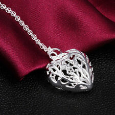 Latest Fashion Gift Women Plated Silver Pendant Heart Necklace Jewelry