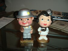 1960s Bobble Head Nodder Pittsburgh Steelers Kissing Pair Bobbing Football