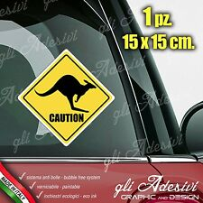 Adesivo Stickers Auto Moto Camper CAUTION CANGURO segnale sign