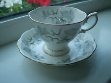 Royal Albert Silver Maple Tea Cup & Saucer 1st Quality Bone China Grey & White