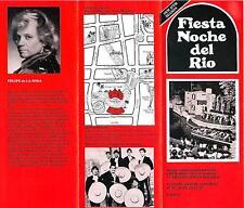 Fiesta Noche del Rio San Antonio Texas folder of dancers singers