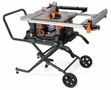 WEN 3720 10-inch Jobsite Table Saw with Rolling Stand