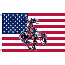 Usa End Of The Trail Flag 5Ft X 3Ft Native American Indian Banner With Eyelets