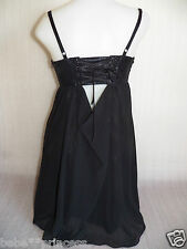 NWT guess top skirt black lace up bustier bodycon sheer straps dress XS S 3 sexy