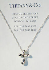 Tiffany & Co Elsa Peretti Sterling Silver Cross Necklace