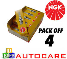 NGK Replacement Spark Plug set - 4 Pack - Part Number: BKUR5ET-10 No. 7553 4pk