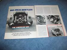 1969 Vintage Tech Info Article Installing Corvair Power in a Volkswagen Bug