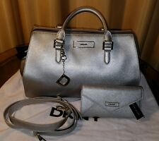 DKNY Silver saffiano leather Doctors Bag & Wallet set w/ Dustbag - price reduced