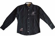 La martina jodhpur en coton noir slim fit chemise en très bon état-taille l/large