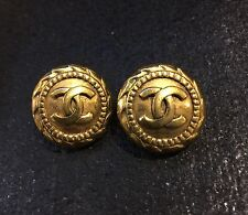 $550 CHANEL CC CLIP-ON EARRINGS