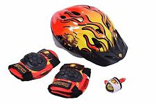 BART SIMPSON BOY GIFT SET FOR BIKE SCOOTER OR SKATE RIDERS HELMET PADS BELL