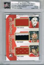 2012-13 ITG ULTIMATE JERSEY LEGACY GOLD TONY ESPOSITO BOB PROBERT DENIS SAVARD 5