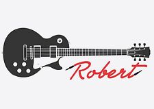 GUITAR Wall Decal Sticker mural Music ear phones personalized teen room Wall