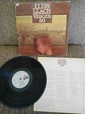 """LLUIS LLACH VERGES 50 - LP VINYL 12"""" G+/G+ ARIOLA 1980"""