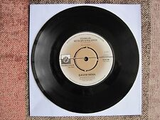 """DAVID SOUL - GOING IN WITH MY EYES OPEN  - 7"""" 45 rpm vinyl record"""