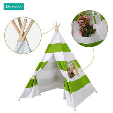 New Kids Play Tent large tipi teepee tepee Tent -cotton wood poles 120*120*137cm