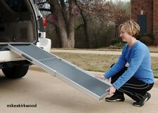 Deluxe Telescoping Pet Ramp, Dog, Large for Car Truck SUV, Aluminum Ramps Solvit