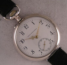 UNION HORLOGERE All Original 1900 Swiss HUGE SILVER Wrist Watch Perfect Serviced