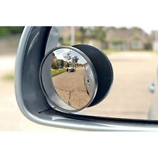 Car Blind Spot Mirror Set of 2 Convex Mirrors Silver Corner Border Wide Angle 2""